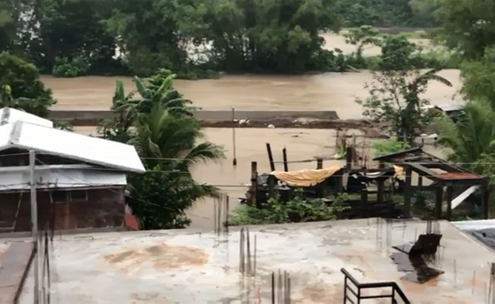 LEYTE. Photo showing the Bangon River in Palo, Leyte, Monday morning, January 15, 2018. Water from the river overflowed Monday, flooding nearby barangays. (Courtesy of Fr. Chris Arthur Militante)