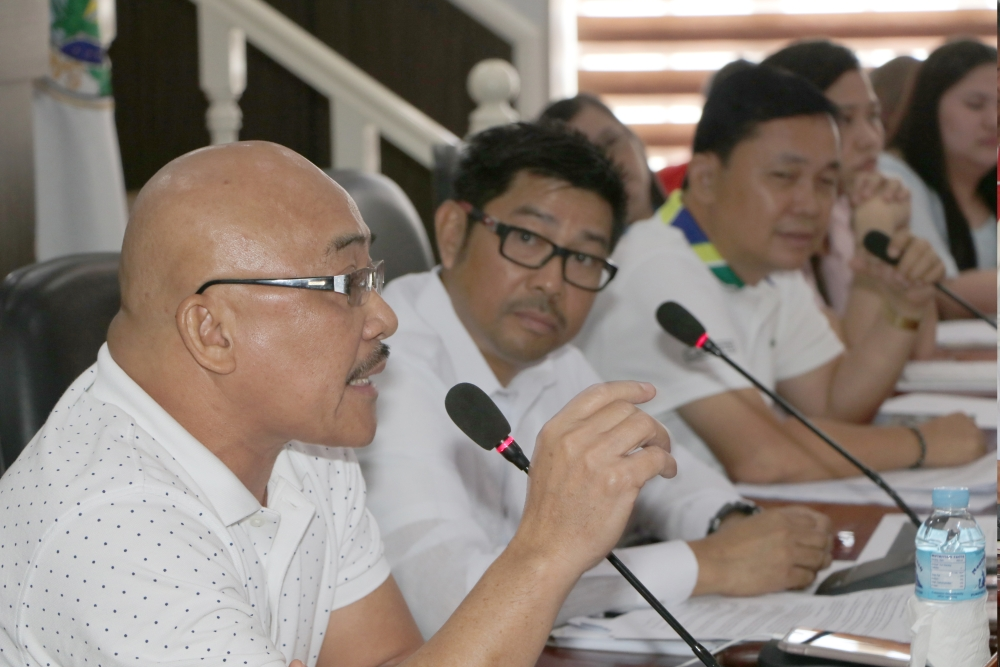 PAMPANGA. (Left) Provincial Board members Nelson Calara, Jun Canlas and Pol Balingit presided on February 27 the joint committee hearing on trade and industry, municipal affairs and justice and good governance to look into an ordinance establishing a new public market in a new site in the municipality of Apalit. (Chris Navarro)