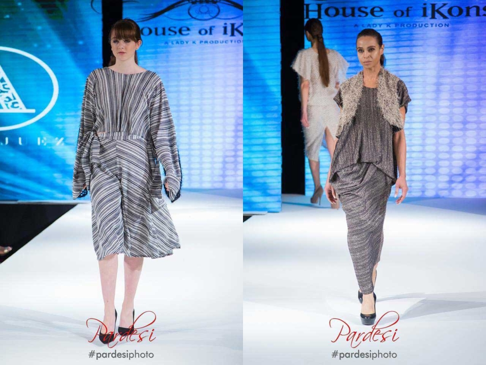 DAVAO. Some of the clothes in the 10-piece collection of Compostela Valley-based entrepreneur and fashion designer Cheri-Lou Aranjuez that were showcased during the London Fashion Week last February 17. (Photos from Pardesi Photo)