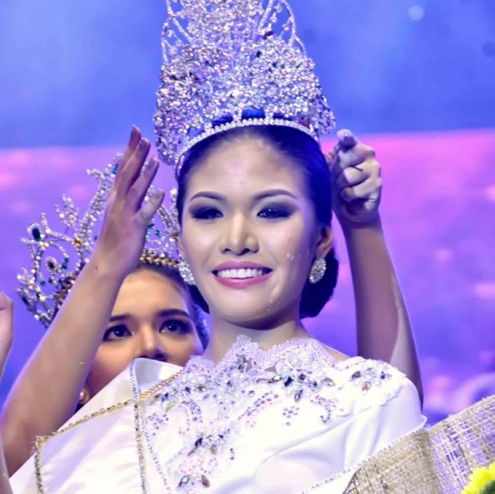Reina Kobayashi when she bagged the crown as Mutya ng Davao 2017. (Photo by: Reina Kobayashi)