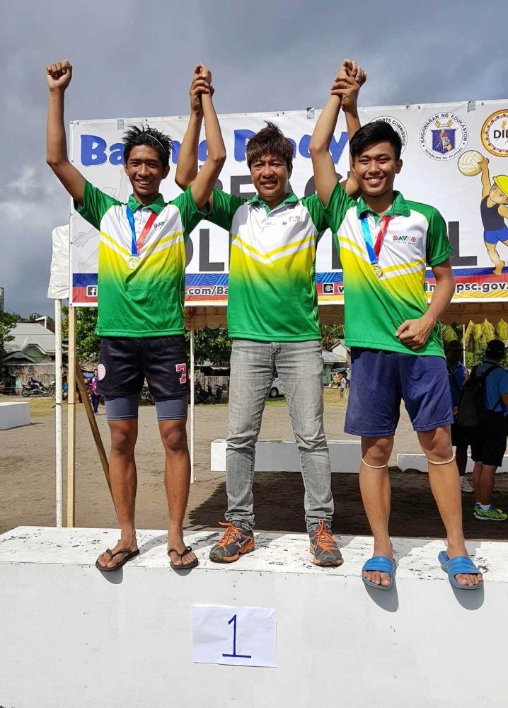 OROQUIETA CITY. Davao City boys beach volleyball coach D' Artagnan