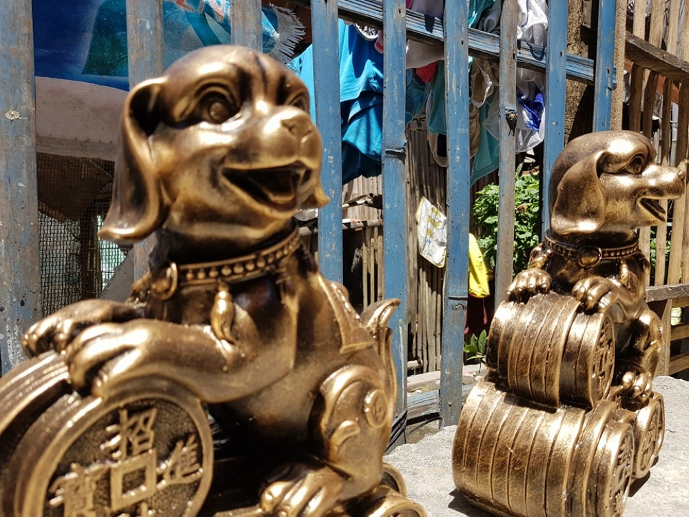 BACOLOD. Bestseller this 2018 – a dog casted coin bank.