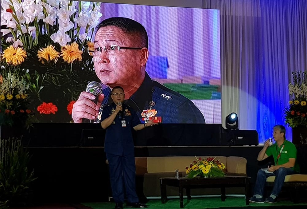 BACOLOD. In this SunStar file photo, Philippine National Coast Watch Center director Rear Admiral Joel Garcia speaks at the Rotary International District 3850 Conference in L' Fisher Hotel, Bacolod City. (Carla N. Cañet)