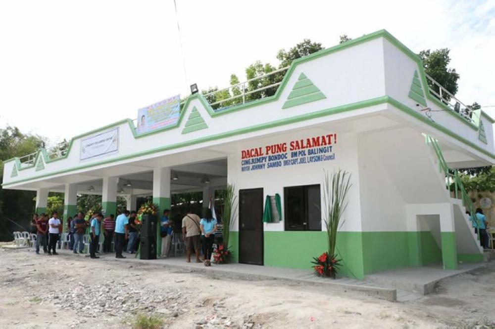 PAMPANGA. The P3-million Community Fish Landing Center at Poblacion, Sto. Tomas, Pampanga was inaugurated Thursday, March 23. (Chris Navarro)