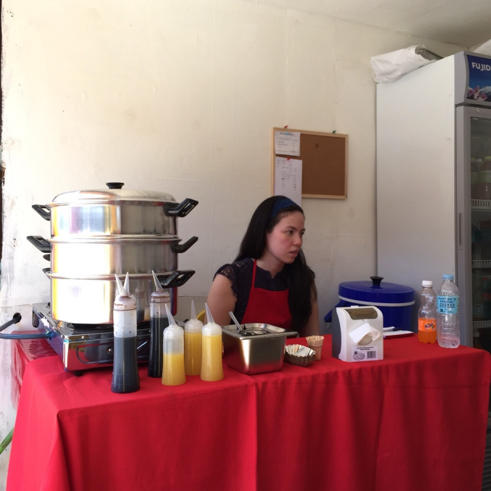 Aileen in action selling her well-loved siomai. (Contributed photo)