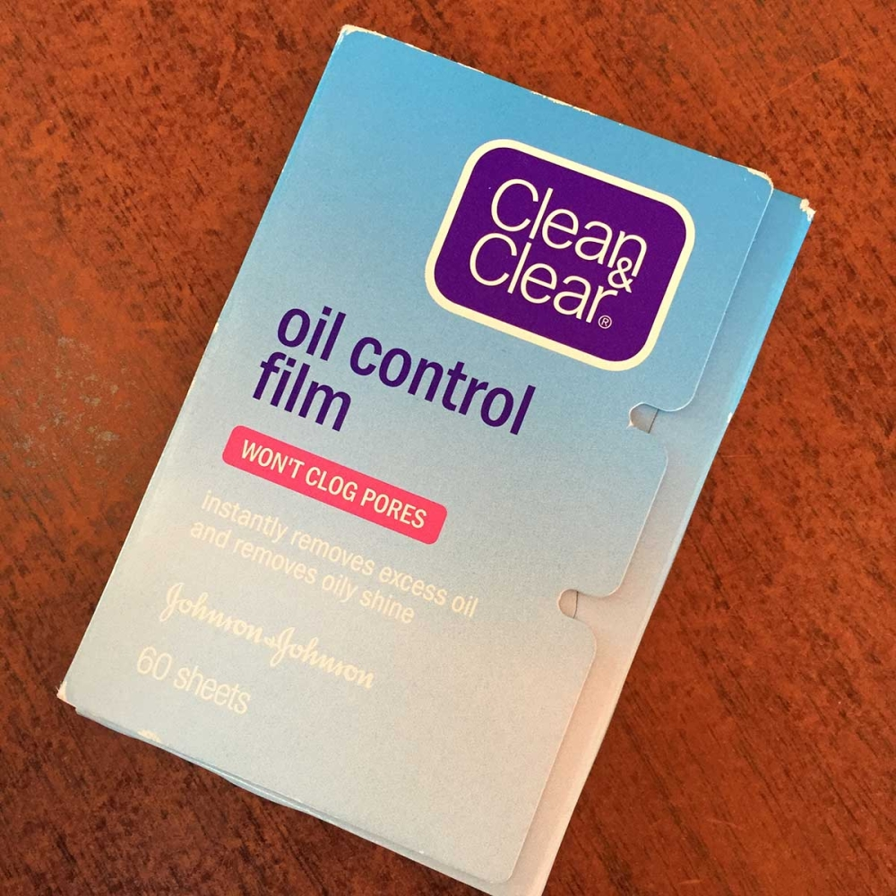 The Clean and Clear oil control film is a staple in my kikay kit because its oil absorbent film absorbs oil very well and doesn't tear. (Andrea Isabelle Mejos)