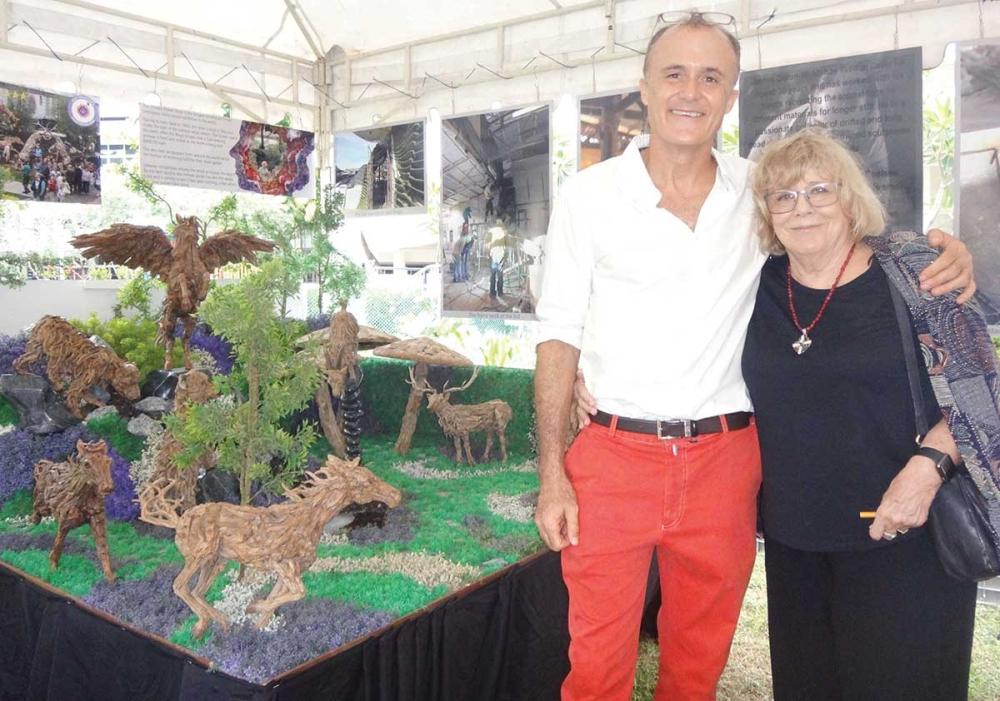 James Doran-Webb and his mother Jane.