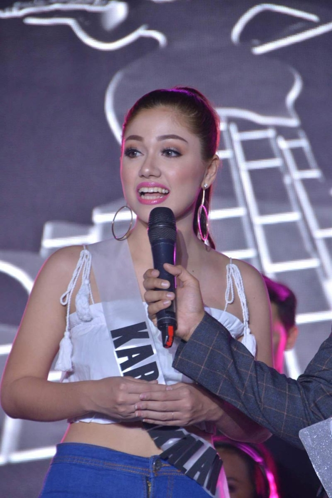 BACOLOD. Muse of the Press is Lin-ay sang Kabankalan Gheneza Marie Mueller during the question and answer portion (Richard Malihan)
