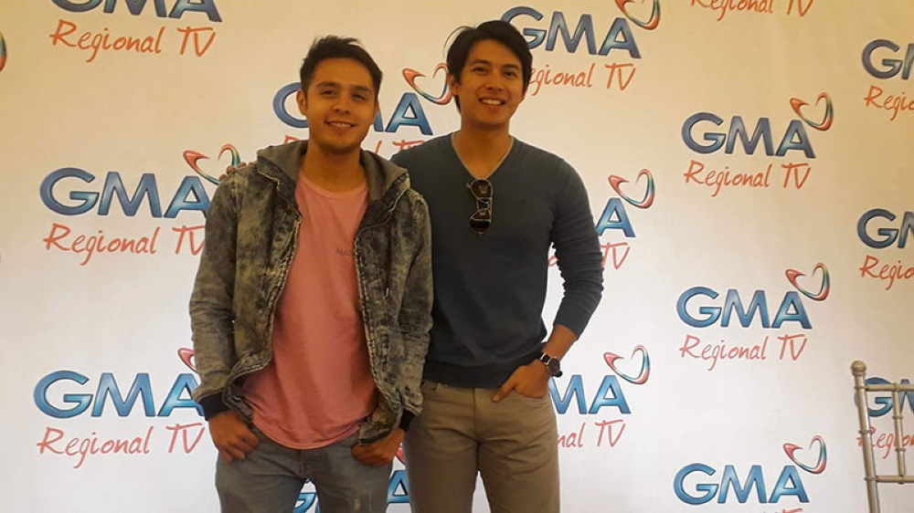 BACOLOD. Kapuso stars Martin del Rosario and Mike Tan during the press conference at Planta Hotel in Bacolod City on April 14, 2018.