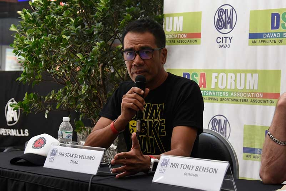 DAVAO. DurianMan Triathlon Race director Stax Savellano said they expect the triathlon event to boost the tourism industry inDavaoRegion. (Mark Perandos File Photo)