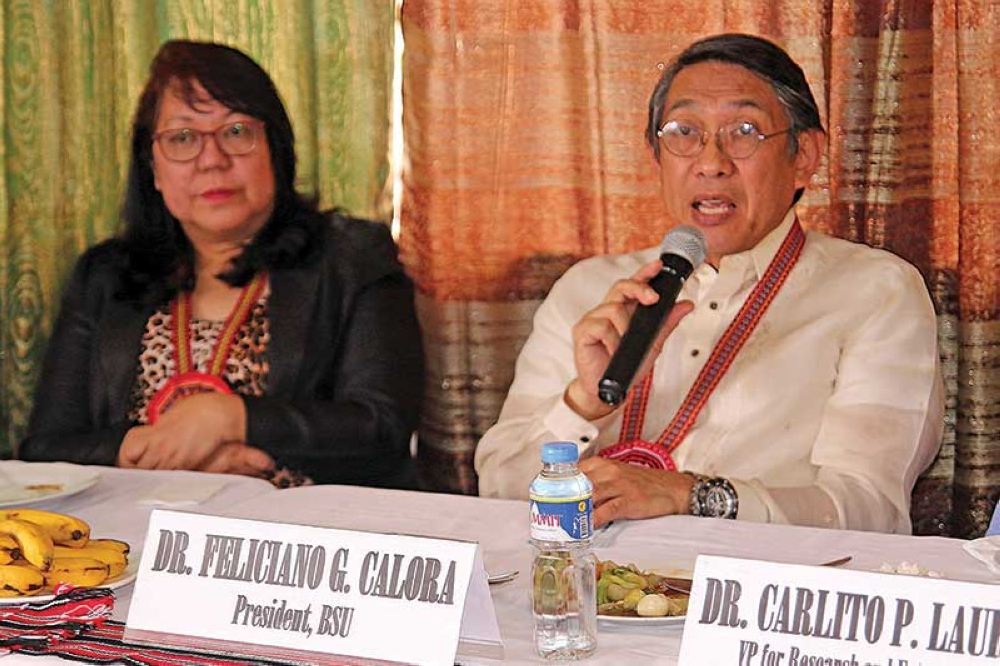 INNOVATION. Benguet State University (BSU) president Feliciano Calora discuss on the university's collaboration with Department of Science and Technology (DOST) for the establishment of the food innovation center in the Cordillera region. (Milo Brioso)