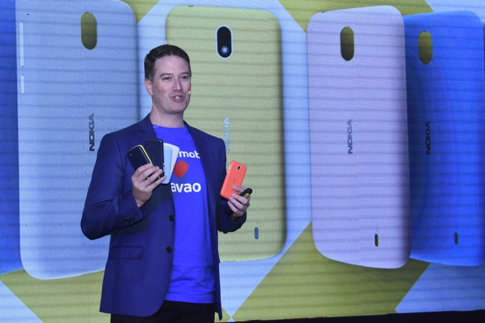 DAVAO. HMD Philippines country manager Shannon Mead presented to the media and bloggers on Thursday, April 27 at the Seda Abreeza Hotel the four new Nokia mobile phones. (Mark Perandos)