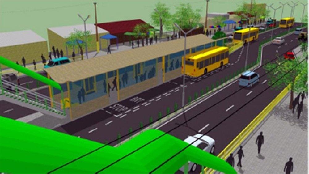 CEBU. An artist's perspective of the Cebu City BRT Project. (File Photo)