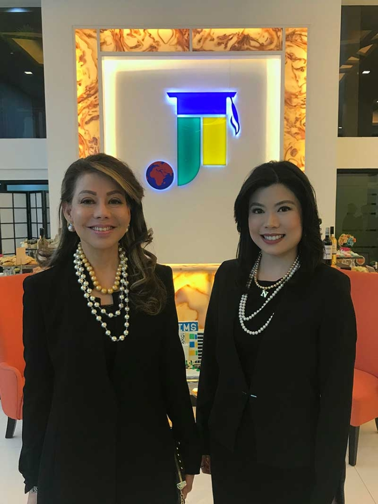 Joji Ilagan-Bian and Nicole Bian at the inauguration of their new International Managament School building