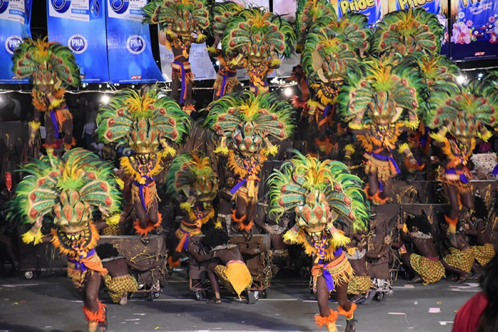 ILOILO. Tribu Panayanon during their performance at Quirino Granstand on April 28, 2018.