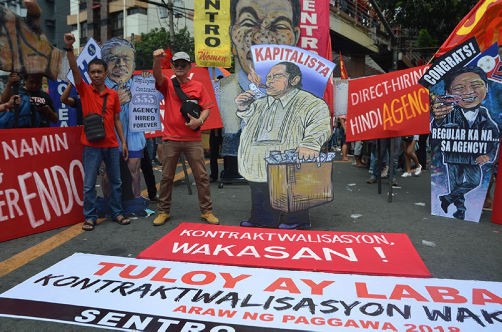 MANILA. Militant workers converge in Mendiola to protest contractualization, which is still allowed under the Labor Code. (Alfonso Padilla/SunStar Philippines)