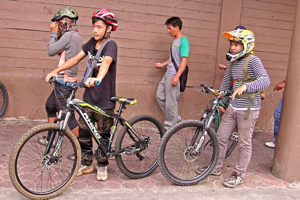 BAGUIO. Bike enthusiasts are set to benefit in the proposed Bicycle Festival being mulled in La Trinidad to ease traffic and promote the use non-motorized vehicles like bicycle as a means of transportation. (Milo Brioso)