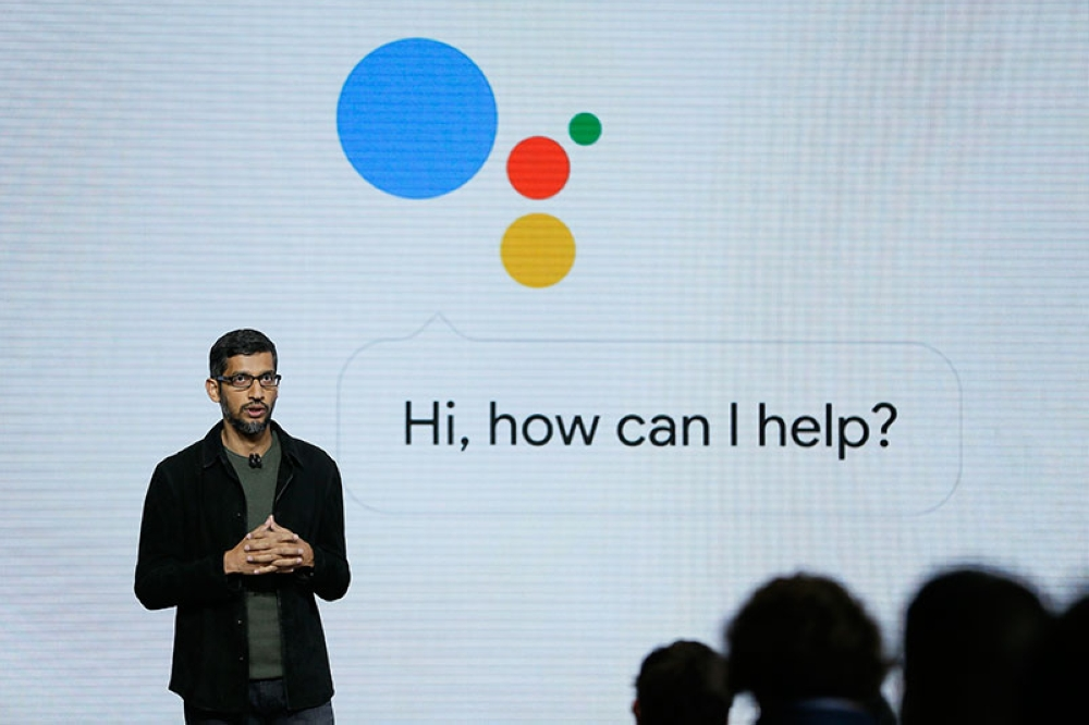 USA. In this October 4, 2016, file photo, Google CEO Sundar Pichai talks about Google Assistant during a product event in San Francisco. (AP)