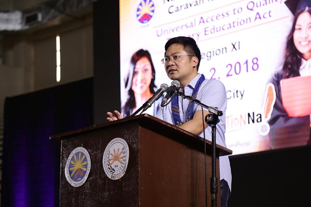 House Appropriations Committee Chairperson and Davao City 1st District Representative Karlo Nograles discussed the congressional intent of UAQTEA. (Contributed photo)
