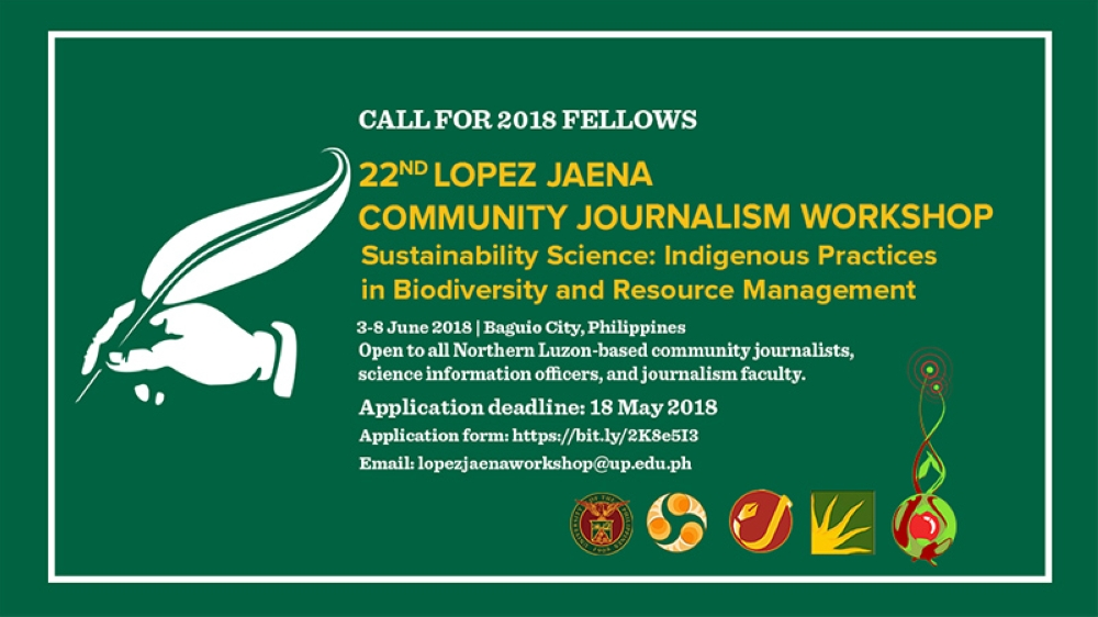 The 22nd Lopez Jaena Community Journalism Workshop now accepts online applications for fellowship.