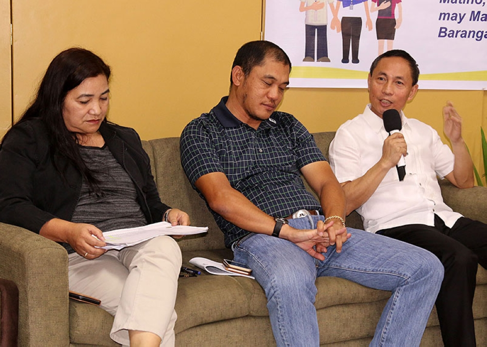 BAGUIO. DILG-CAR director Marlo Iringan shares some ideas for a meaningful barangay and SK election during a press forum at the DILG Nene Pimentel hall. (Milo Brioso)