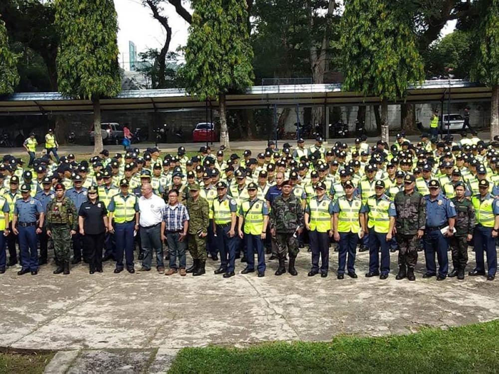 BACOLOD. Security forces from Negros Occidental Police Provincial Office were sent off Friday for the Barangay and Sangguniang Kabataan (SK) elections on May 14. (Glazyl Y. Masculino)