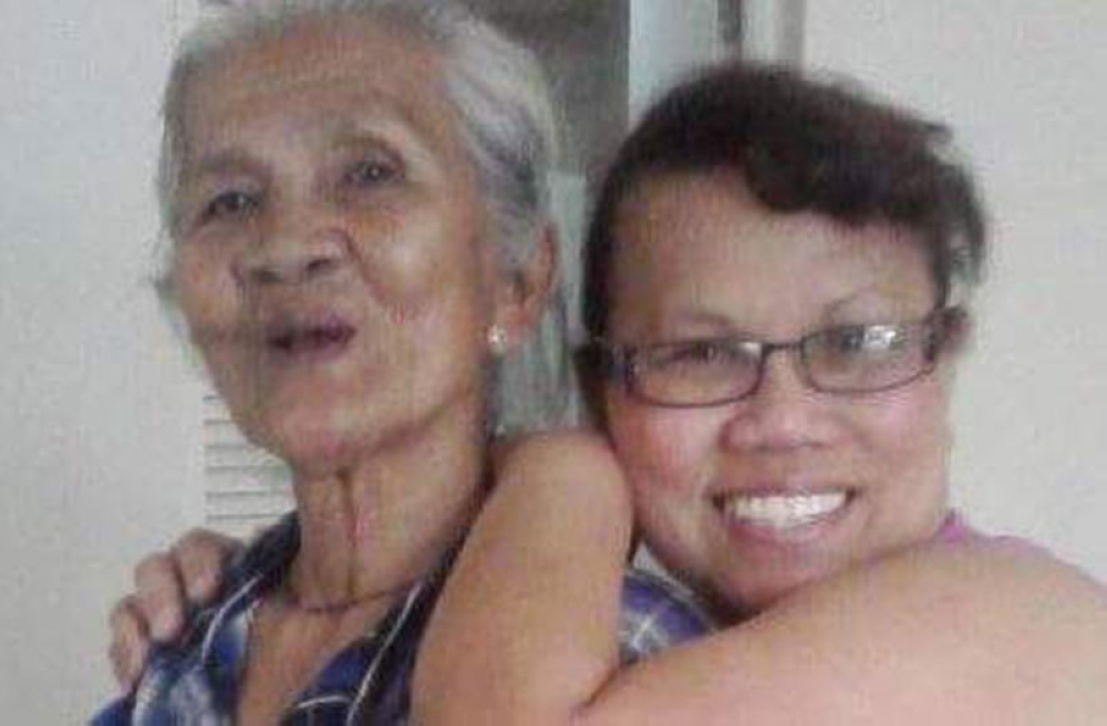 Irene James and Mama Maging. (Contributed photo)