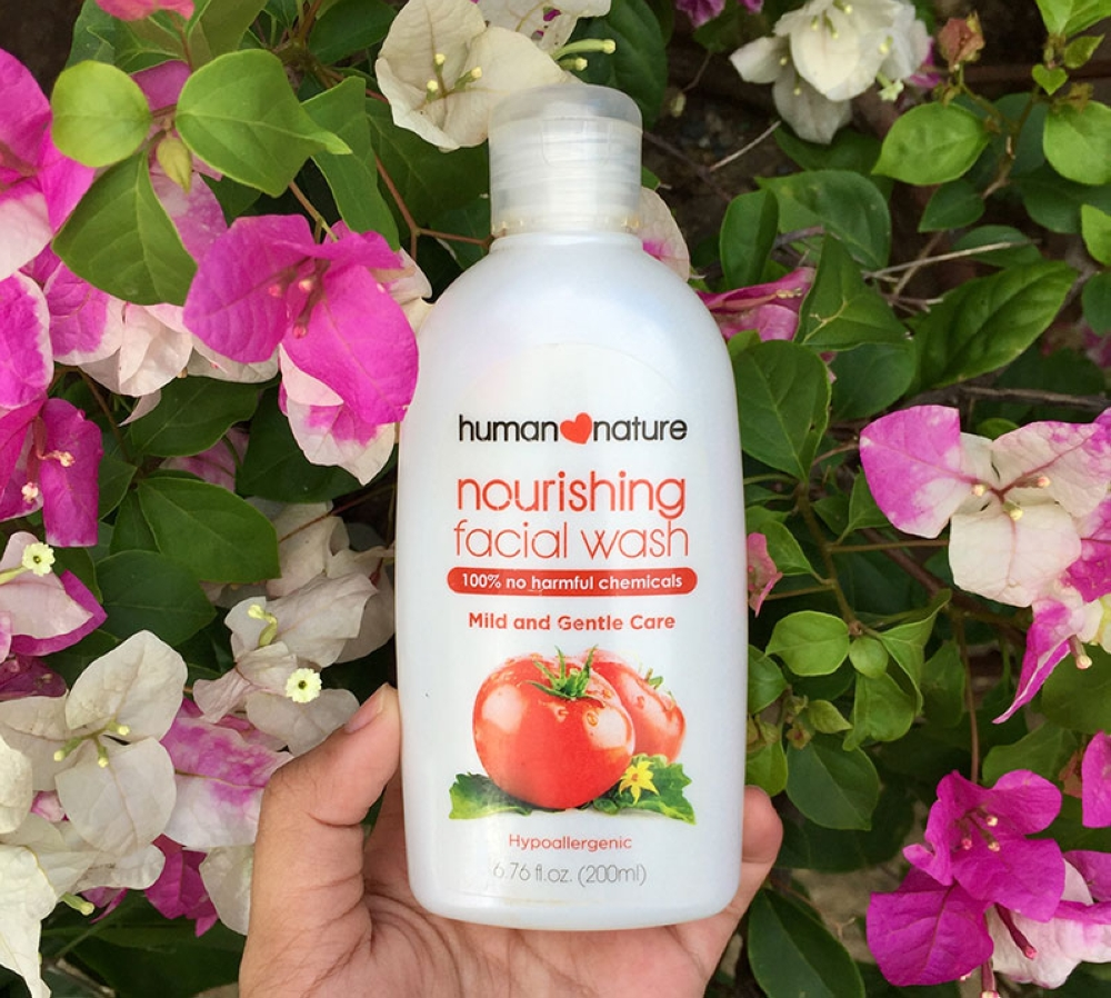 The Human Nature nourishing facial wash is organic, hypoallergenic, mild, and safe to use for acne-prone skin. (Contributed photo)