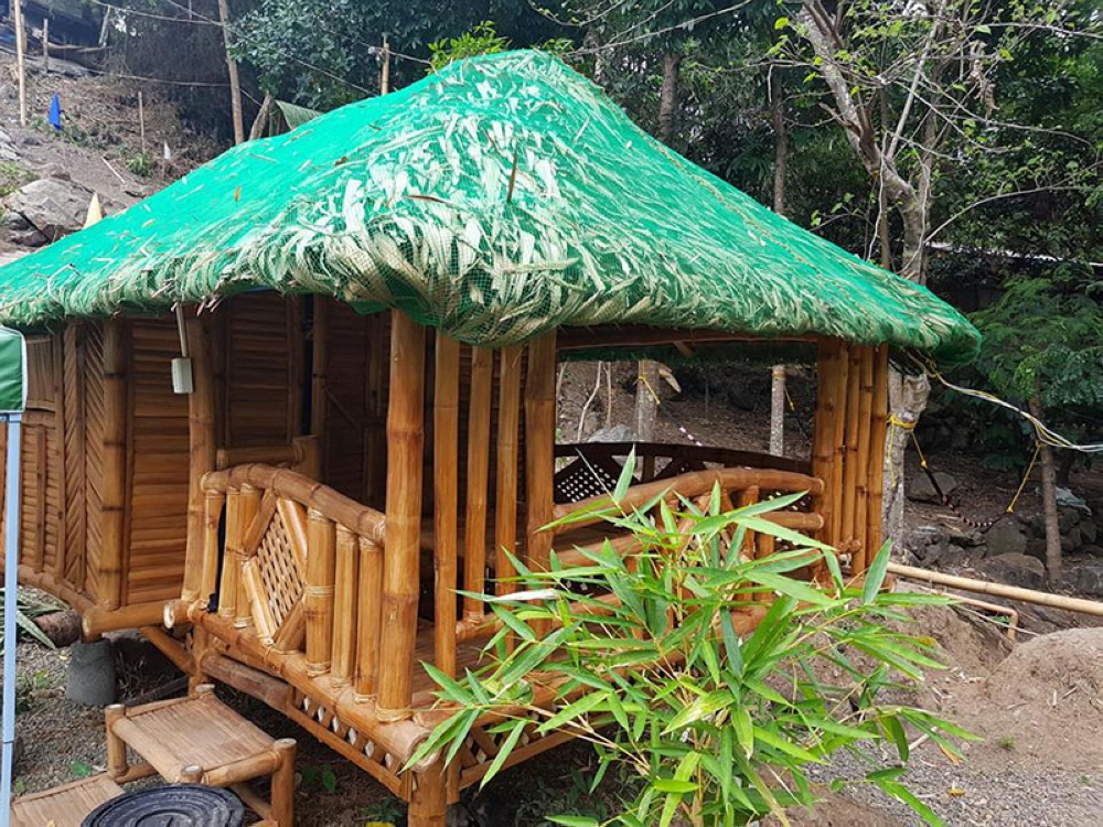 Different design of the bamboo house