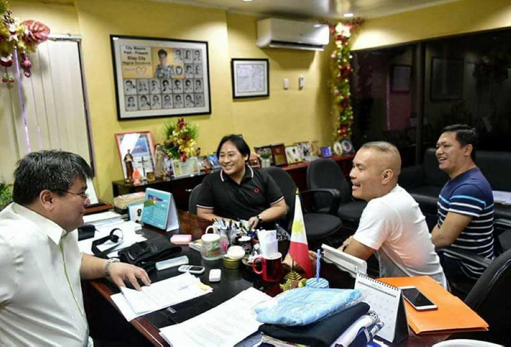 Mayor Mark Golez of Silay City with the representatives of organization in a consultative meeting