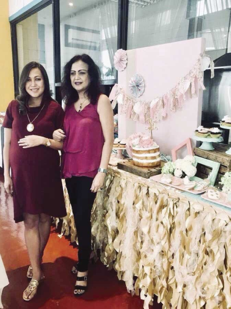Mother-daughter. Bigseed's Jaja Chiongbian Rama and Mom Nenita Chiongbian during the baby shower in her honor.