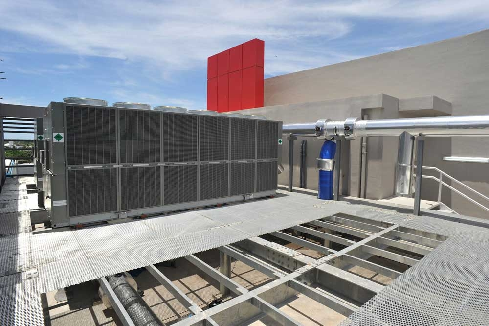 Cooling units. Storing data can get hot, which is why the VITRO Cebu 2 has this cooling tower outside the facility.  (Contributed Foto)