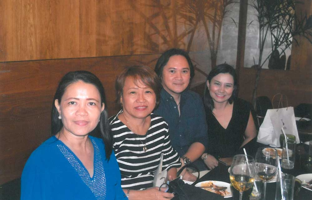 Guests. Fe Reynes of Petron Corp., Delia Suplig of Timex, Matt Poonin of Travellite Travel and Tours with Seda Nuvali's Erin Songalia.