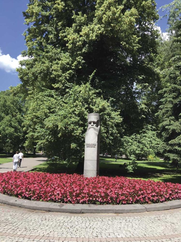 Krisjanis Barons monument (Photo/Melanie T. Lim)