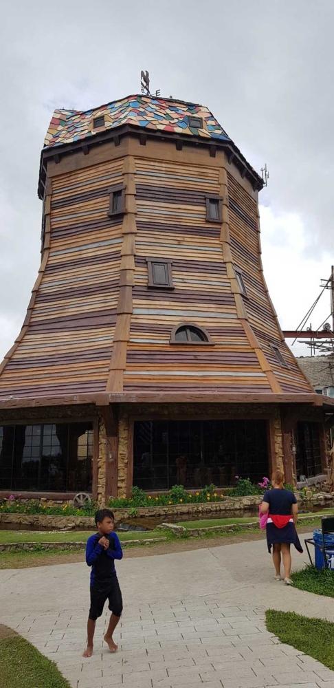 The imposing Raphaella's Mill House