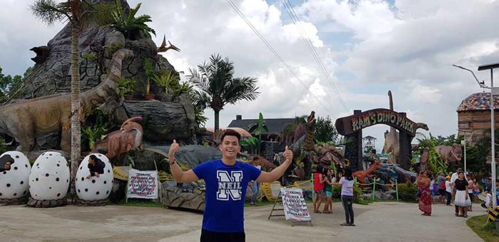 """Asia's Got Talent"" beatbox king Neil Rey Garcia Llanes tours at Campuestohan Highland Resort yesterday"