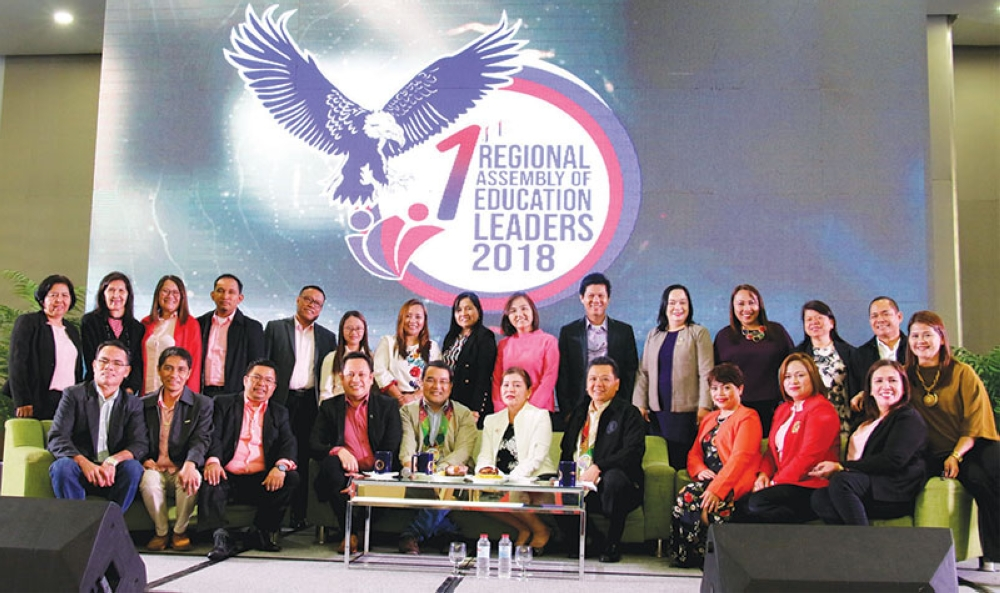 LEVELING UP. Officers of the Philippine Association of Schools Superintendent (PASS) Region 11, which organized the first ever Regional Assembly of Education Leaders (RAEL).