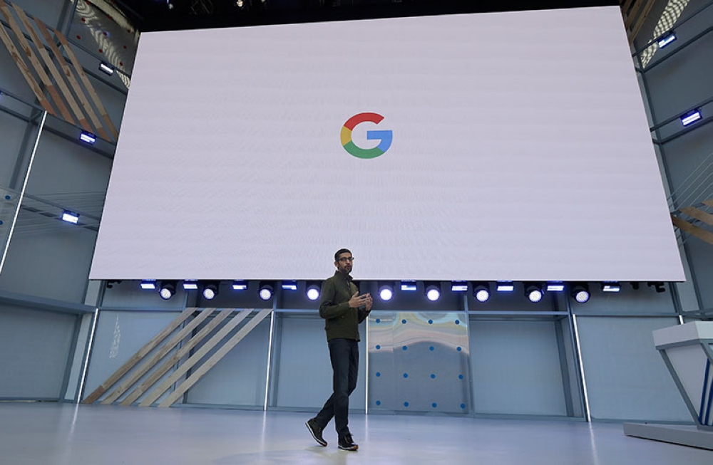 USA. Google CEO Sundar Pichai speaks at the Google I/O conference in Mountain View, California, Tuesday, May 8, 2018. (AP)
