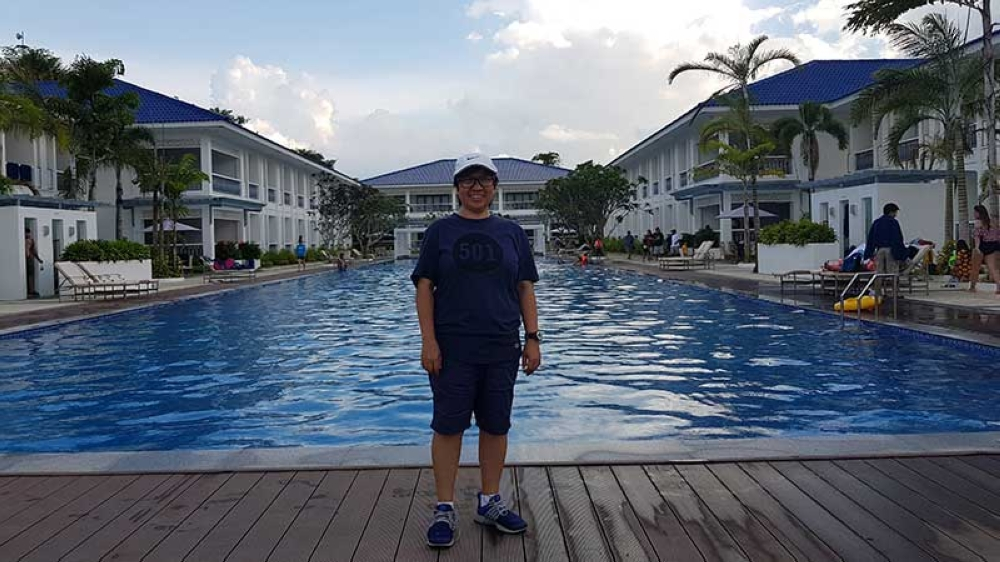 At a posh Andana Resort in Nueva Valencia in Guimaras