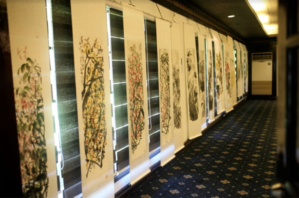 Traditional Chinese paintings exhibit