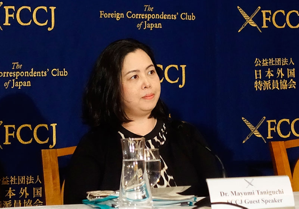 JAPAN. Mayumi Taniguchi, an Osaka International University professor on gender and human rights issues, talks about the results of her recent survey on sexual harassment among women working in the Japanese media during her speech at the Foreign Correspondents Club of Japan in Tokyo, Monday, May 21, 2018. (AP)