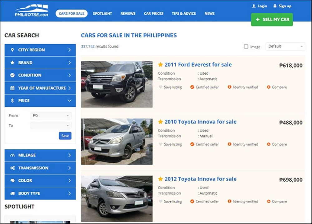Buy And Sell Cars In The Philippines With Philkotse Com Sunstar