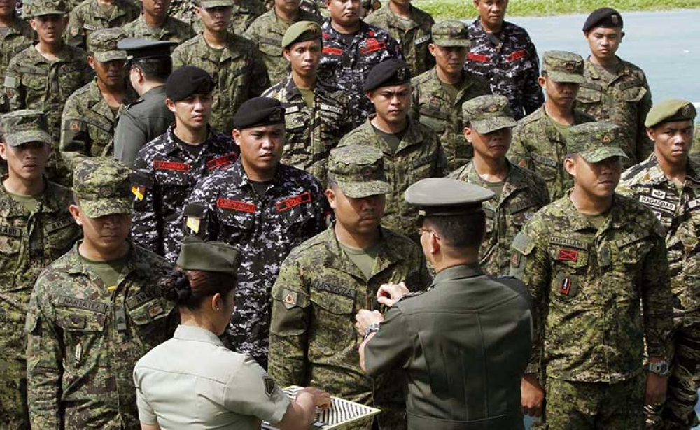 MANILA. A total of 641 Philippine Army personnel, who took part in the Marawi battle in 2017, are promoted to the next higher rank during ceremonies held at the Camp Fort Bonifacio on Tuesday, May 22, 2018. (Alfonso Padilla/SunStar Philippines)