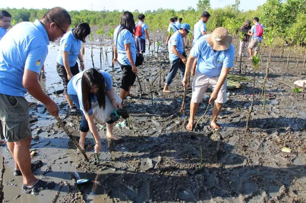 MONTH OF THE OCEAN. In lieu of the International Day for Biological Diversity on May 22 and the Ocean Month, the Community Environment and Natural Resources Office in Bago City spearheaded yesterday, May 23 the mangrove planting and coastal clean-up in Barangay Punta Taytay, Bacolod City.