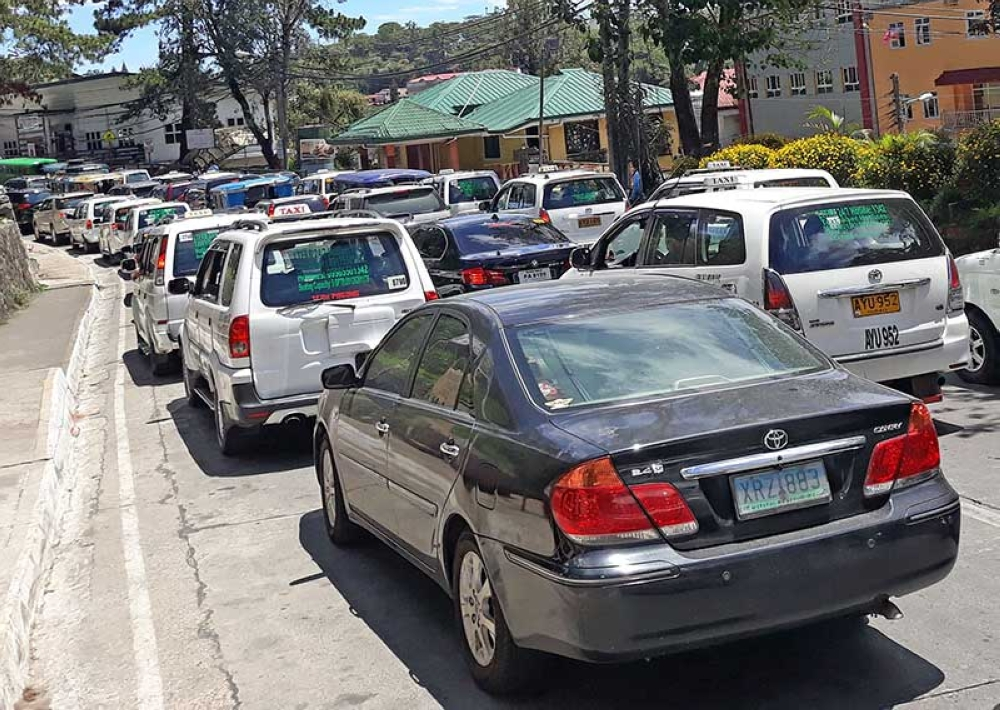 BAGUIO. The Baguio City Government plans to impose congestion and ecology fee to motor vehicle owners to help lessen its use and decongest traffic. (Milo Brioso)