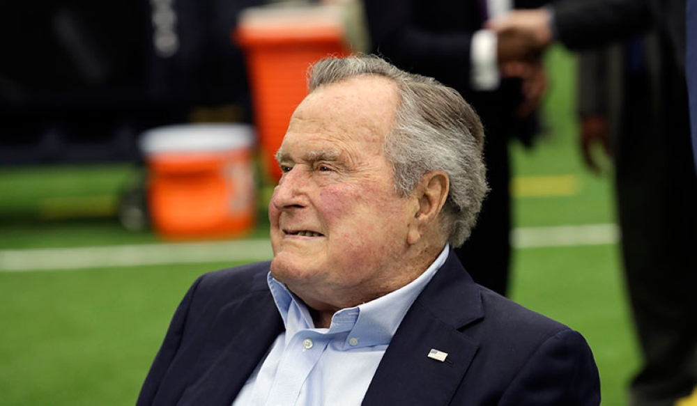 George H.W. Bush hospitalized in Maine