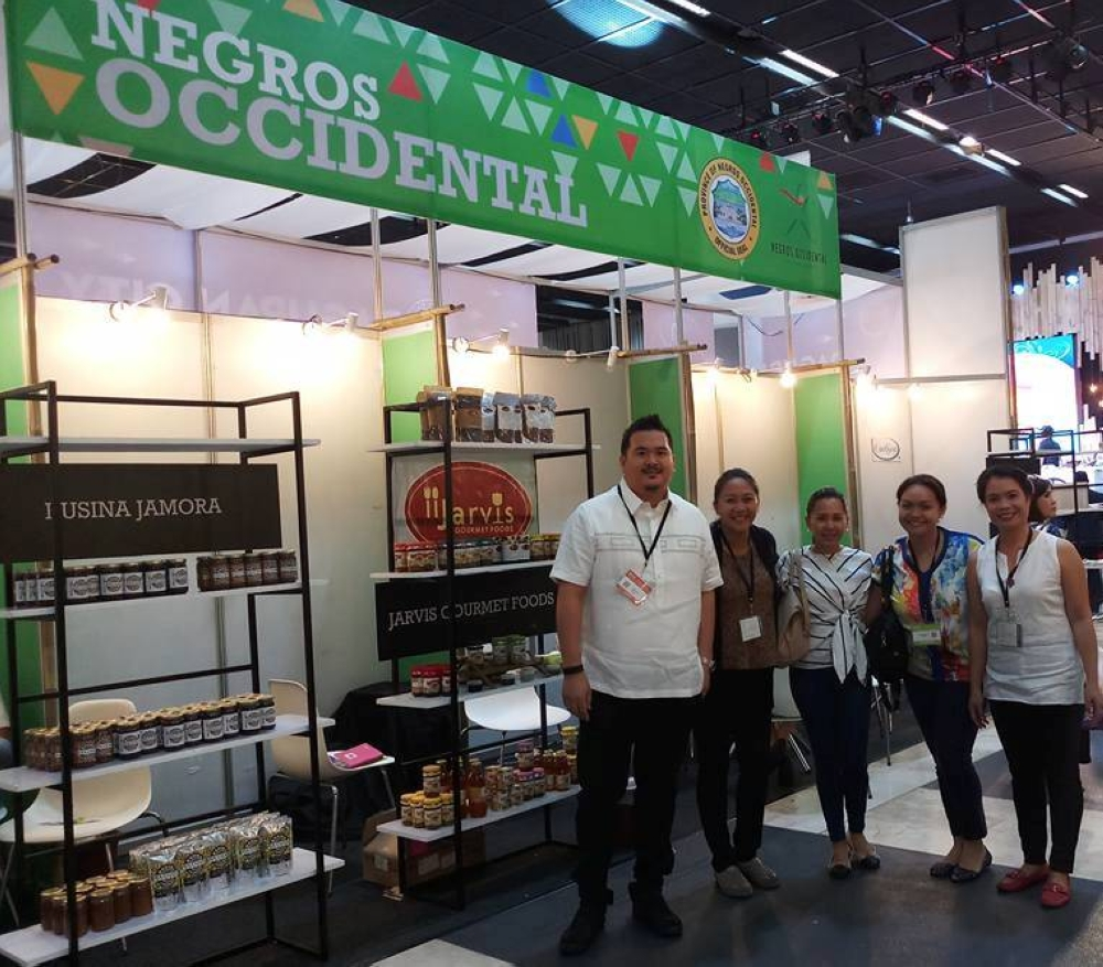 Some of the participating Negrense producers with Mary Achy Azuro (right) of the Office of the Provincial Agriculturist at the Negros Occidental booth during the three-day International Food Exposition (Ifex) Philippines held at the World Trade Center in Pasay City until Sunday, May 27. (Contributed Photo)