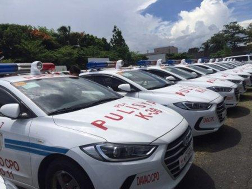 MANILA. The Philippine National Police receives 130 police patrol vehicles from Korea on Tuesday, May 29, 2018. (Contributed Photo)