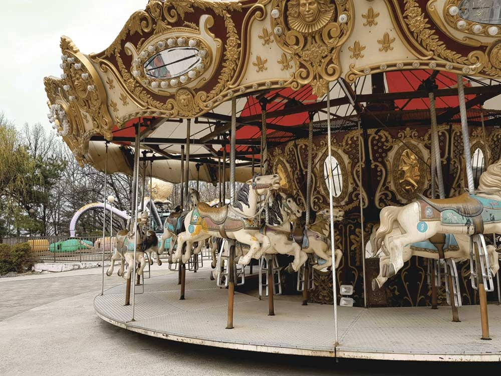 Merry-go-Round that has seen better days.