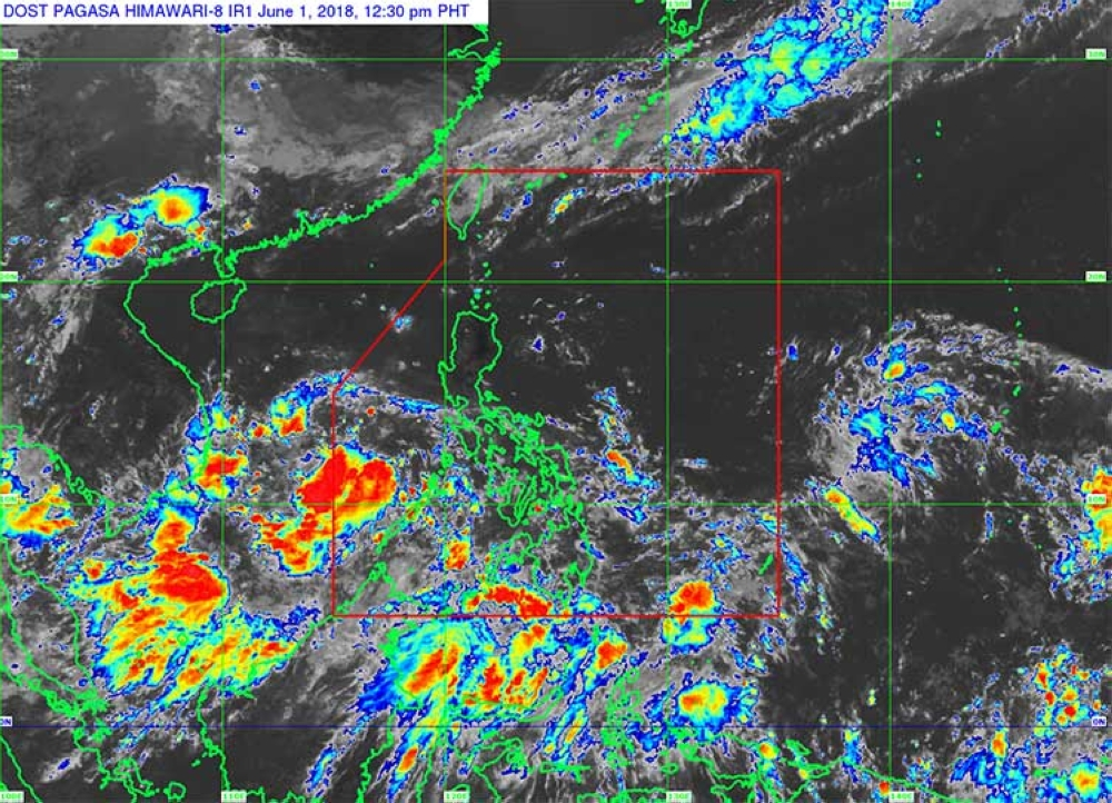 Satellite image from Pagasa